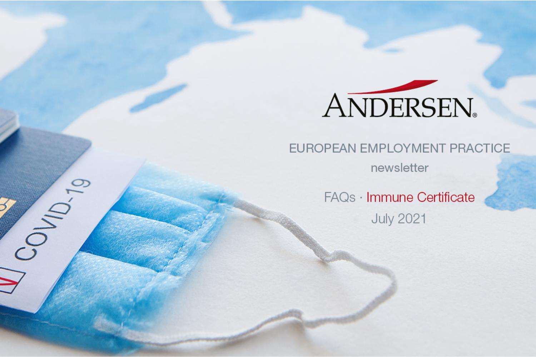 EU Employment Newsletter: FAQs Immune Certificate