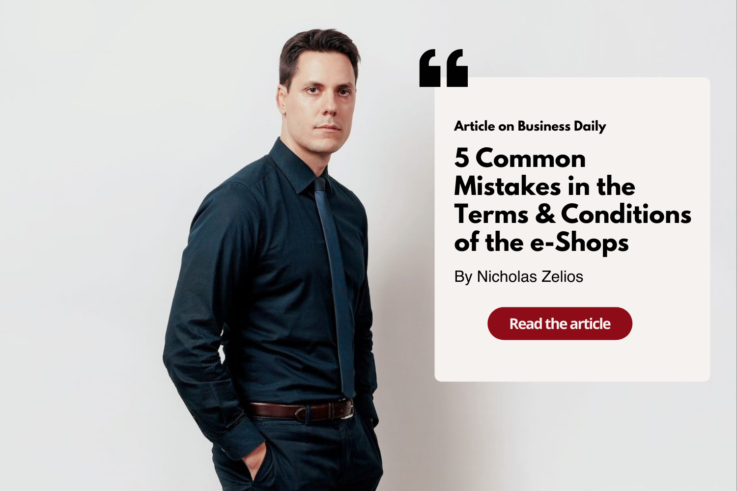 Article: 5 Common Mistakes in Terms & Conditions of the e-Shops